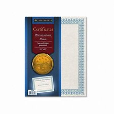Foil-Enhanced Certificates, 8-1/2 x 11, Green Border, 25 per Pack