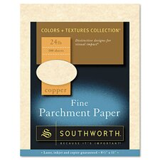 Parchment Specialty Paper, 24 Lbs., 8-1/2 X 11, 100/Box