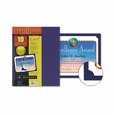 Certificate Holder, 12 x 9 1/2, Navy, 10 per Pack