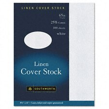 <strong>Southworth Company</strong> 25% Cotton Linen Business Coverstock, 100/Box