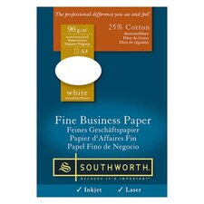 Fine Business Paper, 24 lb., A4 Size, 500/RM, White
