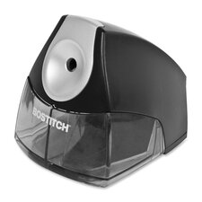 "Pencil Sharpener, Steel Blades, 3-1/2""x5""x4"", Black"