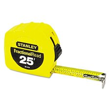 Plastic 25' FractionalRead Tape Measure
