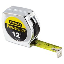 Metal 12' PowerLock Wide Tape Measure