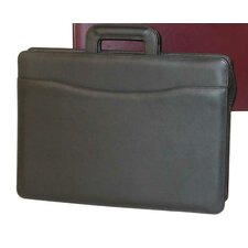 Sliding Handle Leather Briefcase