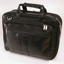 Deluxe Leather Laptop Briefcase