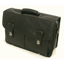 Top-Grain Leather Laptop Briefcase