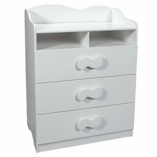 Combination 3-Drawer Dresser and Changing Table