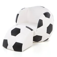 <strong>Gift Mark</strong> Soccer Ball Kid's Novelty Chair and Ottoman Set