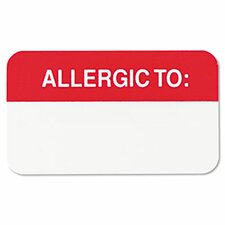 Medical Labels for Allergies, 250/Roll