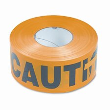 Caution Barricade Safety Tape, Yellow, 3w x1,000 ft. Roll