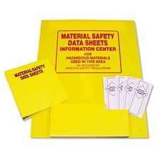 MSDS Two-Pocket Plastic Information Center Literature Display Rack, Yellow