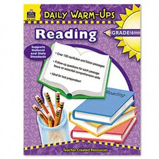 Daily Warm-Ups: Reading, Grade 6, Paperback, 176 Pages