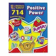 Sticker Book Positive Power, 714/Pack
