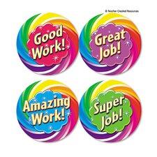 Wear Em Badges Good Work, 32/Pack