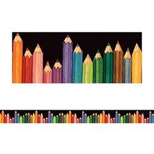 Sw Colorful Pencils Straight Border