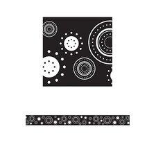 Black/white Crazy Circles Straight
