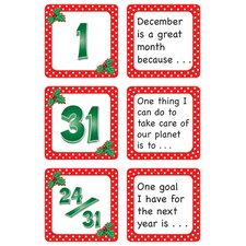 December Polka Dots Calendar Days