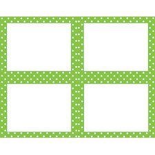 Lime Polka Dots Name Tags