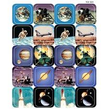 Space Thematic Stickers