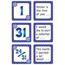 January Polka Dots Calendar Days