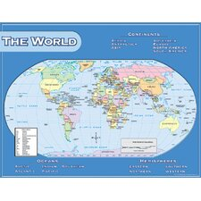 <strong>Teacher Created Resources</strong> World Map Chart 17x22