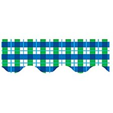 Blue Green Plaid Border Trim
