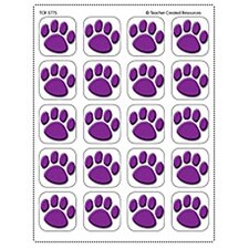 Stickers Purple Paw Prints