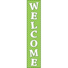 <strong>Teacher Created Resources</strong> Lime Polka Dots Welcome Banner