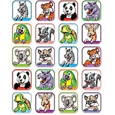 Animal Faces 1 Stickers 120 Stks