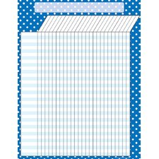 <strong>Teacher Created Resources</strong> Blue Polka Dots Incentive Chart