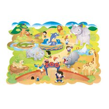 Giant Zoo Animals Floor Puzzle, Cardboard, 54 Pieces, 4 ft. x 3 ft.