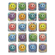 Peel and Stick Gemstone Stickers Smiley Face, 20/Pack