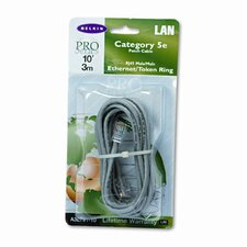 Cat5e 10/100 Base-T Patch Cable, Crimped, 10ft