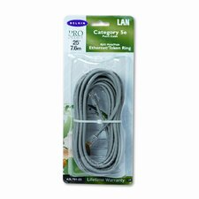 Cat5e 10/100 Base-T Patch Cable, Snagless, 25ft, Gray