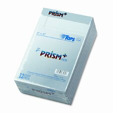 Prism Plus Colored Jr. Legal Pads, 5 x 8, Blue, 50 Sheets, 12-Pack