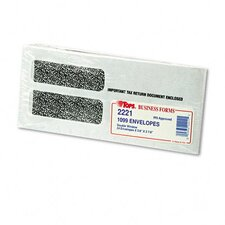 Double Window Tax Form Envelope for 1099 Interest Forms, 24/Pack