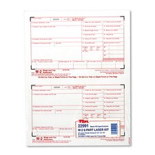 W-2 Tax Form Six-Part Carbonless, 50 Forms