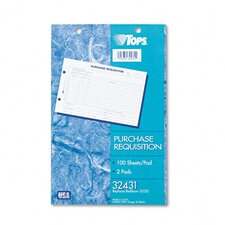 Purchasing Requisition Pad, 100/Pad, 2/Pack
