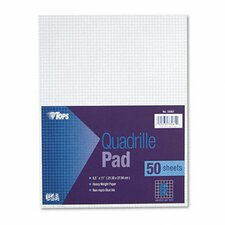 Quadrille Pads, 6 Squares/Inch, 50 Sheets / Pad