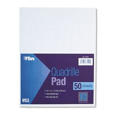 Quadrille Pads, 10 Squares/Inch, 50 Sheets / Pad