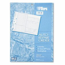 Auto Repair Four-Part Order Form, Four-Part Carbonless, 50 Forms