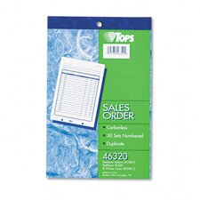 Sales Slip Book, Two-Part Carbonless, 5 1/2 X 7 7/8, 50 Sets/Book