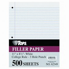 Filler Paper College Rule, 500/Pack