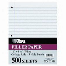 Filler Paper College Rule, 500/Pack