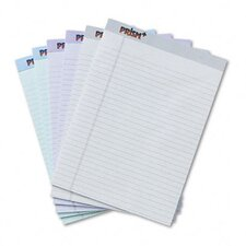 <strong>Tops Business Forms</strong> Prism Plus Colored Pads, Legal Rule, Letter, Pastels, 6 50-Sheet Pads/Pack