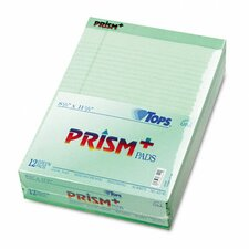 Prism Plus Colored Writing Pads, Legal Rule, Letter, 50-Sheet Pads, 12/Pack
