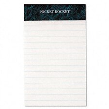 Docket Perforated Pads, Legal Rule, 12 50-Sheet Pads/Pack