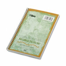 Second Nature Subject Wirebound Notebook, Narrow Rule, 80 Sheets
