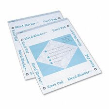 <strong>Tops Business Forms</strong> Bleed-Blocker Easel Pad, Unruled, 2 40-Sheet Pads/Pack